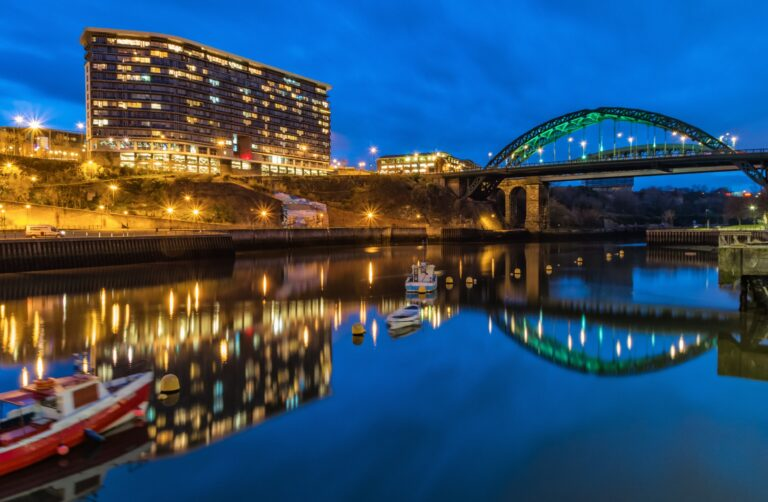 sunderland city at night before snagging survey